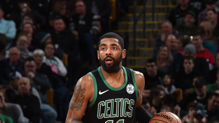 Kyrie Irving left the game in the second quarter with a knee injury
