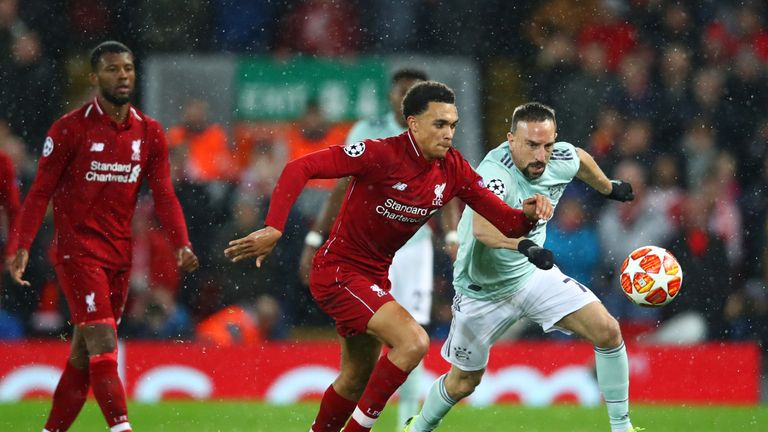 Liverpool and Bayern drew 0-0 in the first leg at Anfield