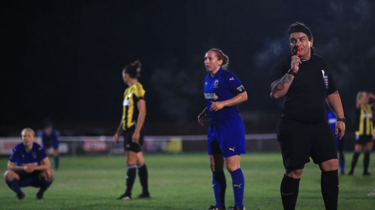 Clark has refereed over 50 games this season, and says she has been shown respect by players, staff and fellow officials