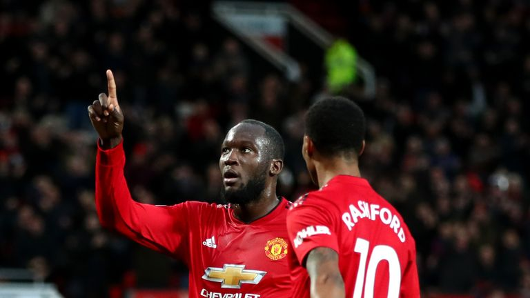 during the Premier League match between Manchester United and Fulham FC at Old Trafford on December 8, 2018 in Manchester, United Kingdom.