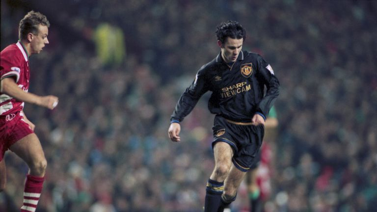 Ryan Giggs scored in Manchester United's 3-3 draw at Liverpool in January 1994