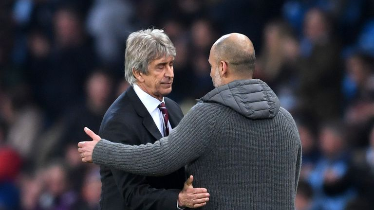 Manuel Pellegrini suffered a narrow defeat on his return to the Etihad