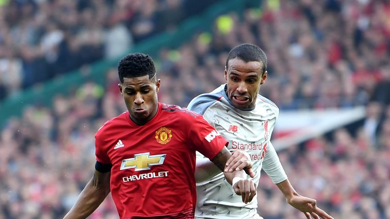 Marcus Rashford played the entire match against Liverpool despite picking up an injury