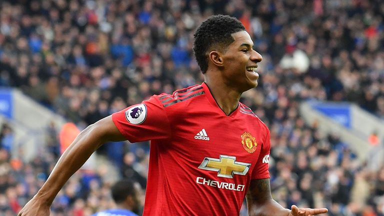 Marcus Rashford found the net once more against Leicester last weekend