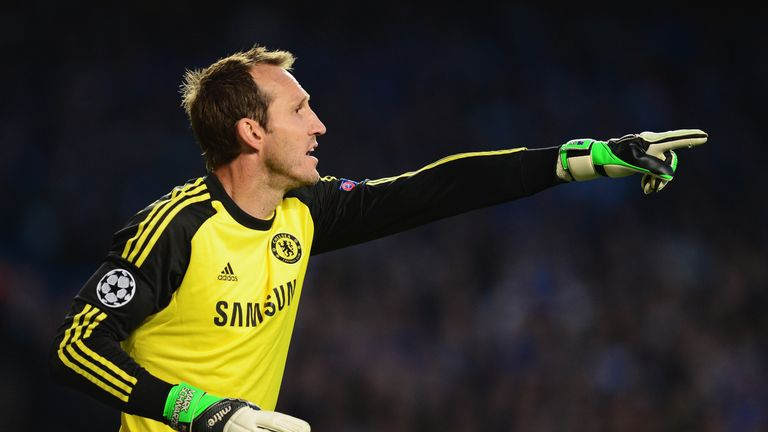 Schwarzer became the oldest player to debut in the Champions League when he was with Chelsea