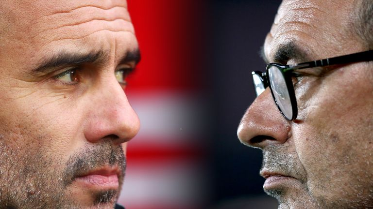 Pep Guardiola's Manchester City stand in the way of Maurizio Sarri and a first ever trophy as manager
