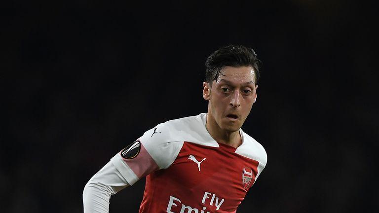 Mesut Ozil returned to action for Arsenal against BATE Borisov