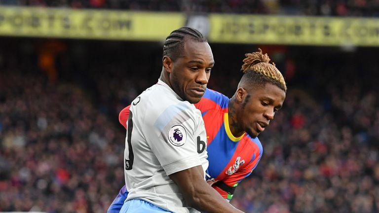 Michail Antonio (left) impressed against Crystal Palace