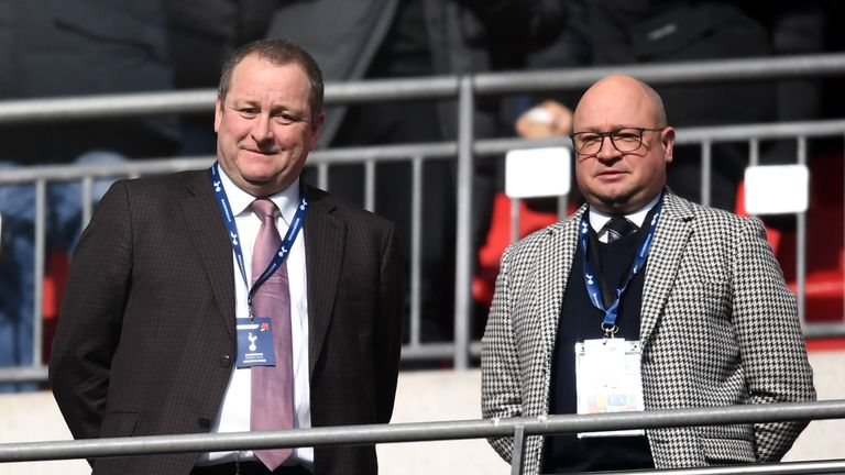 Newcastle managing director Lee Charnley (right) had been tasked by owner Mike Ashley (left) to lead negotiations with Benitez