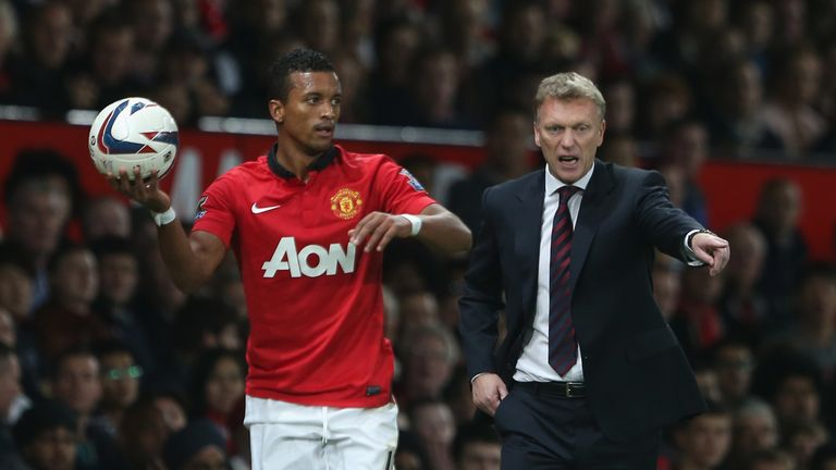 Nani was used sparingly by David Moyes at Manchester United