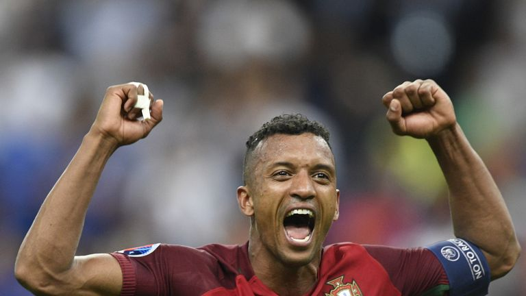 Nani captained Portugal in the Euro 2016 final
