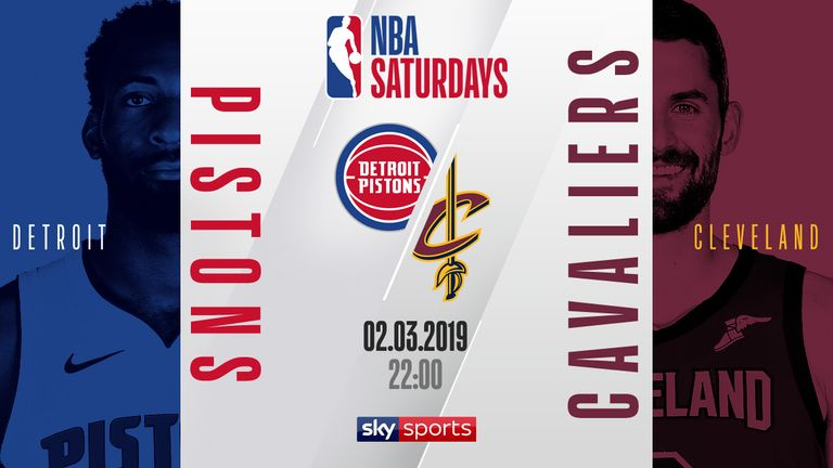 Watch Detroit Pistons Take On Cleveland Cavaliers Live On Skysports