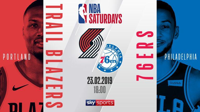 NBA Saturdays - Trailblazers @ 76ers