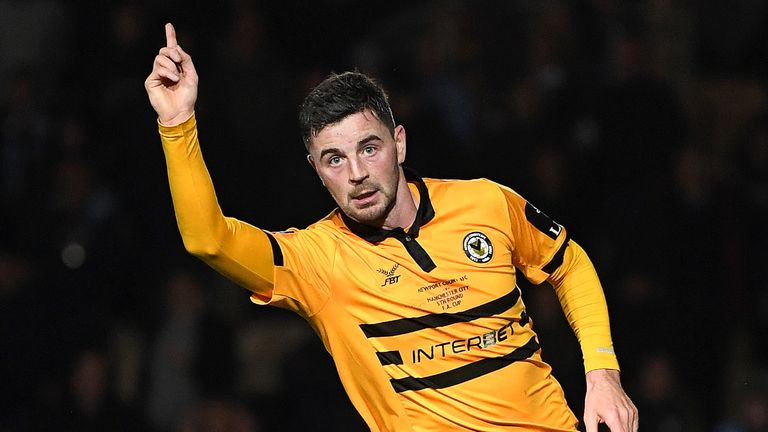 Amond had pulled a goal back for Newport to make it 2-1 in the 88th minute