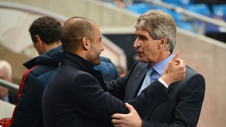 Pep Guardiola faced Manchester City and Pellegrini in the Champions League when he was in charge at Bayern Munich