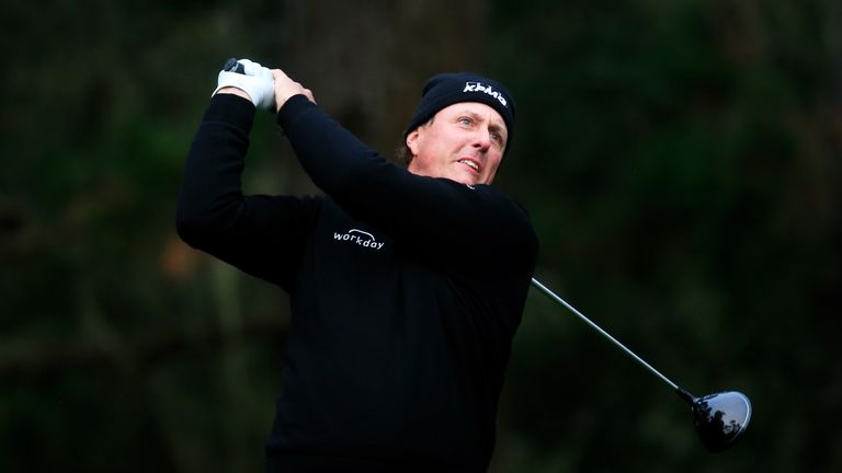Phil Mickelson is the joint-clubhouse leader on 10 under