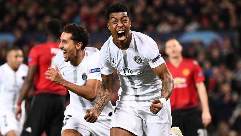 Presnel Kimpembe was among the scorers as PSG defeated United at Old Trafford