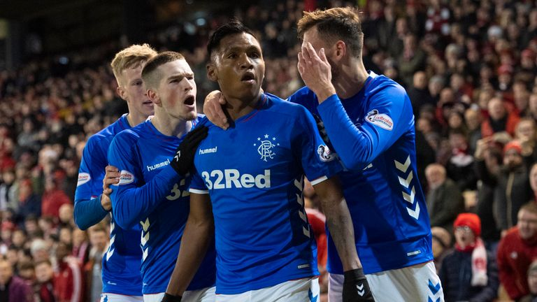 Rangers' Alfredo Morelos scored twice and was sent off for the third time against Aberdeen