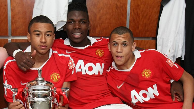 Morrison, pictured with Paul Pogba and Jesse Lingard after winning the FA Youth Cup in 2011