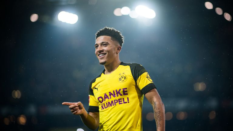 Jadon Sancho is a key figure for Bundesliga leaders Borussia Dortmund