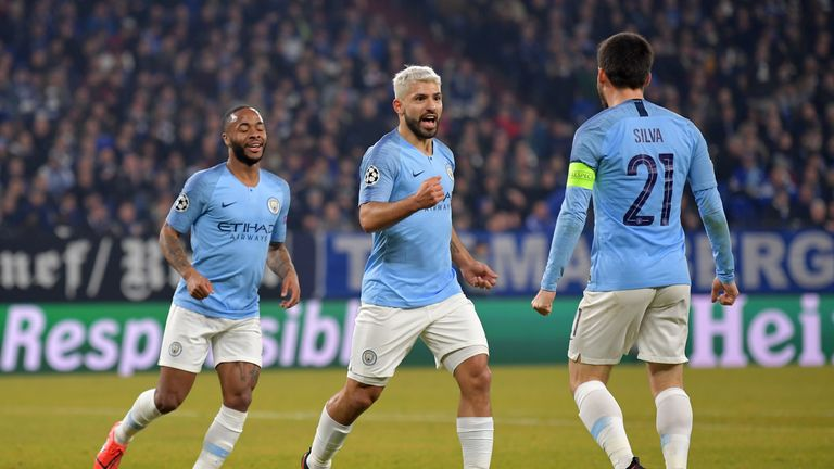 Sergio Aguero put Manchester City ahead