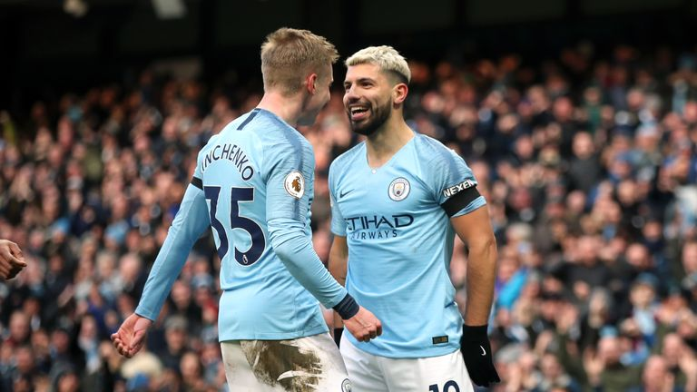 Sergio Aguero scored a hat-trick as City thrashed Chelsea
