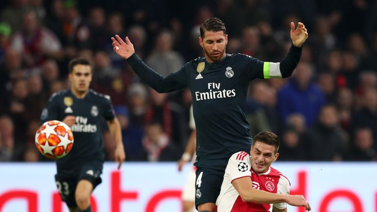 Sergio Ramos has been banned for Real Madrid's next two matches in Europe