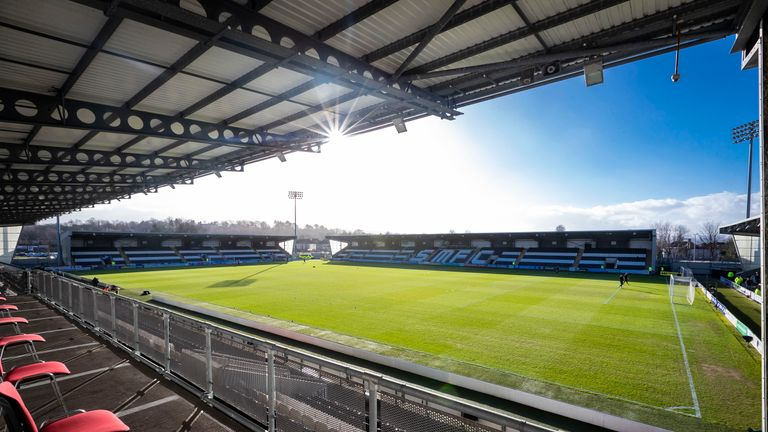 An unconscious Dundee United fan was targeted at St Mirren Park on Saturday