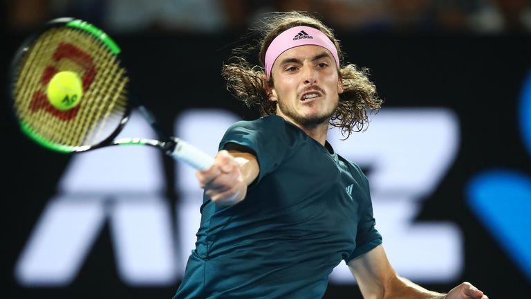Stefanos Tsitsipas remains on course for a second career title