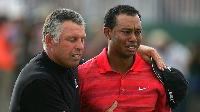 Tiger Woods was overcome with emotion after winning The Open at Hoylake in 2006