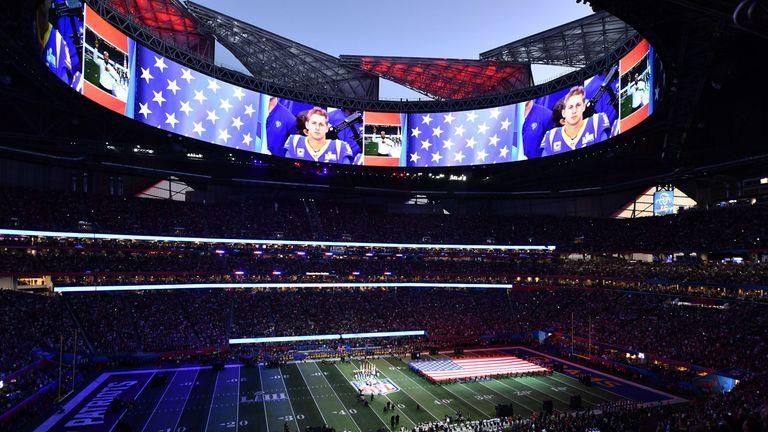 Atlanta's futuristic Mercedes-Benz Stadium was the scene for a spectacular opening