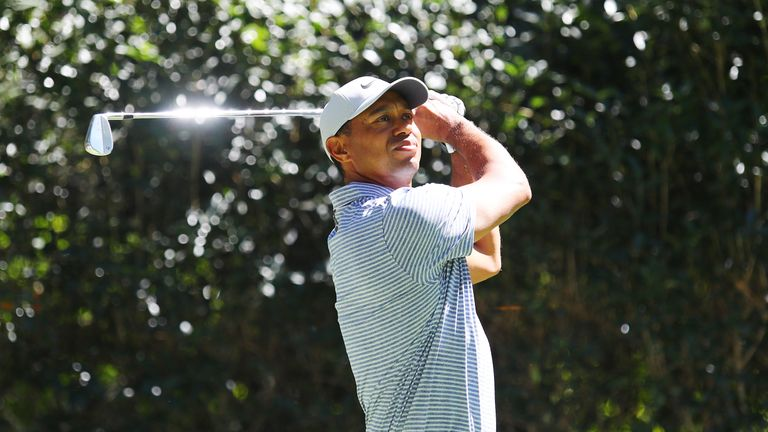Woods admitted he feared a 'big number' at the first hole