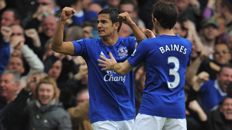 Tim Cahill scored against Liverpool in 2010 but Everton haven't won since
