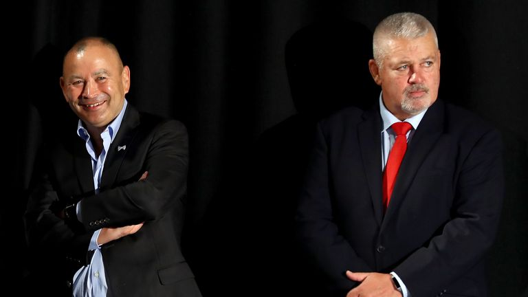 Warren Gatland (right) has told Eddie Jones to focus on England's game with Scotland