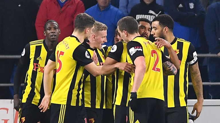 Watford hit five past Cardiff, moving the Hornets up to seventh in the table