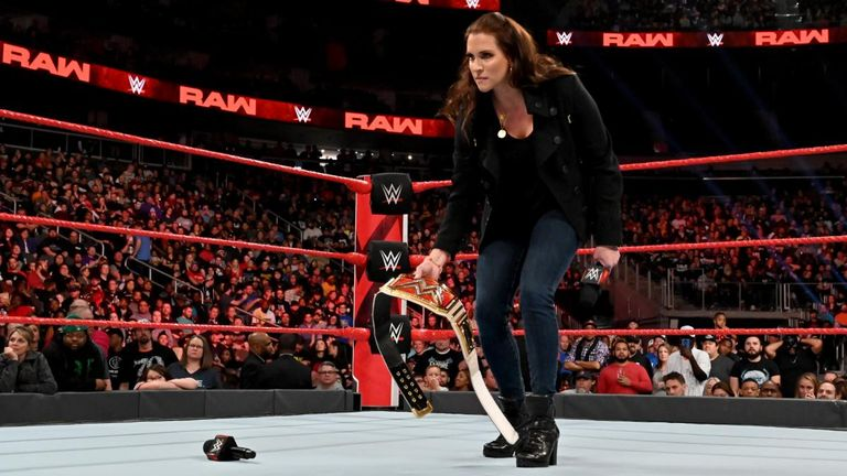 Ronda Rousey laid the Raw women's title belt at Stephanie McMahon's feet after Lynch's arrest
