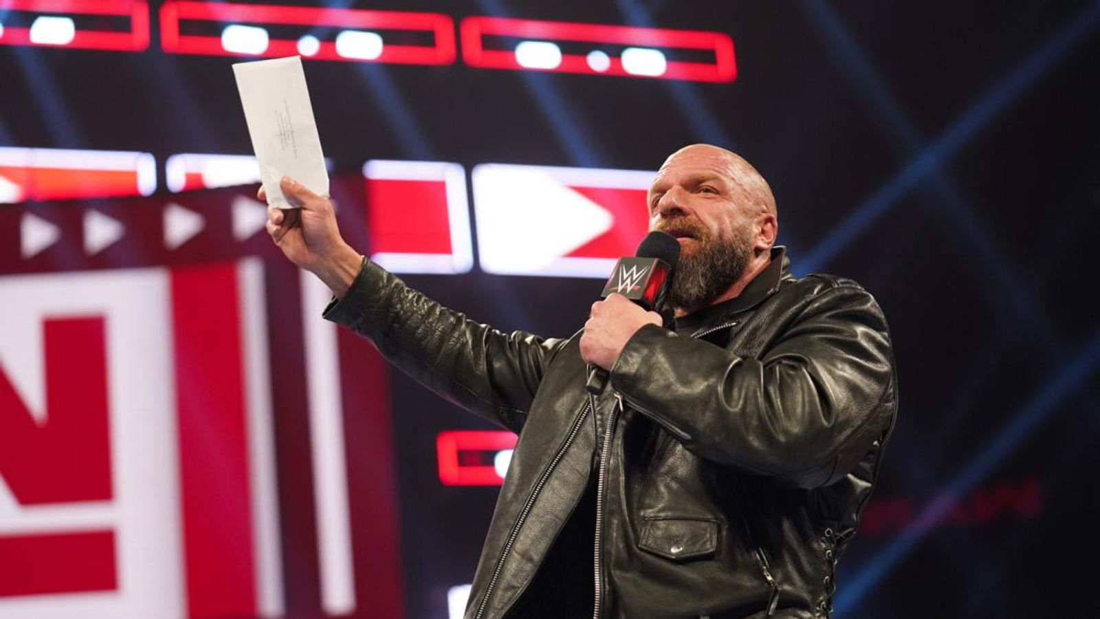 bb176954c WWE Raw  Triple H puts career on line for WrestleMania match with Batista