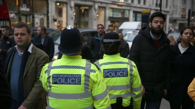 Police find knives on PSG fans in London