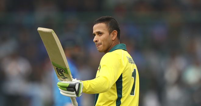 Usman Khawaja hit a second ODI century of the tour of India