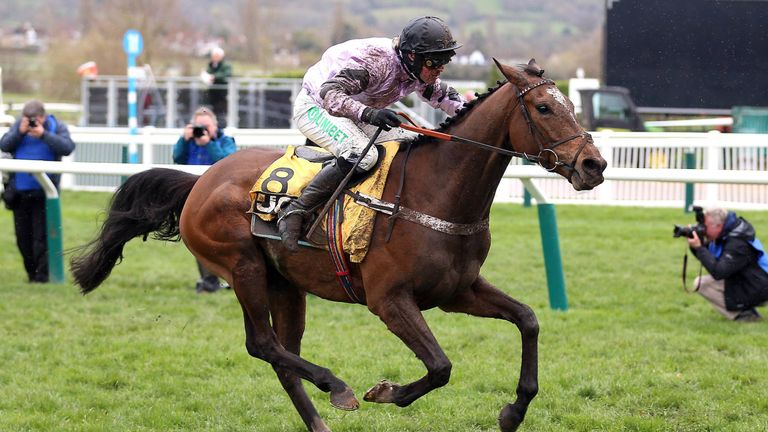 Pentland Hills on his way to JCB Triumph Hurdle glory