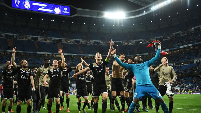Ajax caused a Champions League sensation on Tuesday night with a 4-1 win at Real Madrid