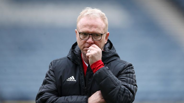 Alex McLeish was sacked on Wednesday after 14 months in charge of Scotland