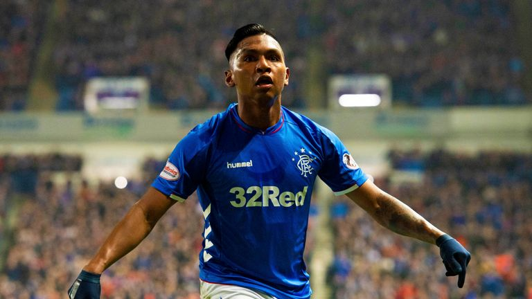 Alfredo Morelos picked up his 19th booking of the season against Aberdeen