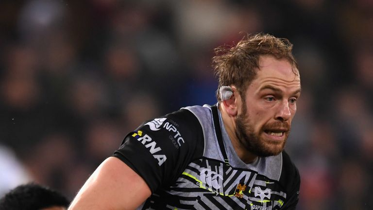 Alun Wyn Jones was dominant at the line-out for the Ospreys