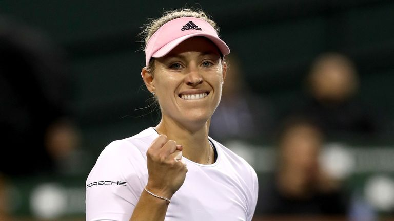 Angelique Kerber is into her first final at the Indian Wells