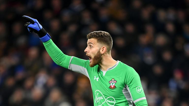 Angus Gunn joined Southampton from Manchester City last summer