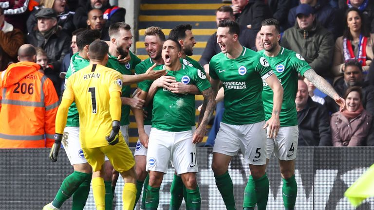 Hughton did manage to lead Brighton to wins home and away against rivals Crystal Palace this season
