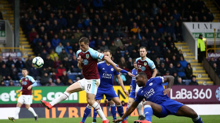 Barnes had Burnley's best chance in the second half but missed the target