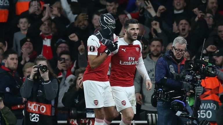 Arsenal's 2-goal Aubameyang explains mask mystery