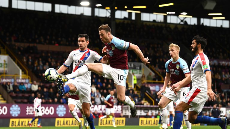 Ashley Barnes missed a good chance in the second period but Burnley were second best
